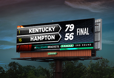 #BillboardBrackets March Madness Digital Billboard Campaign