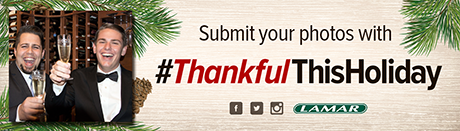 #ThankfulThisHoliday Creative with User-Generated Photo