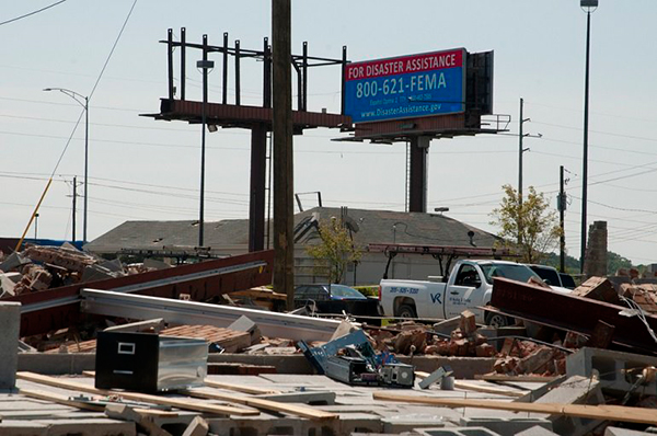 Emergency Alert Lamar Advertising Digital Billboard