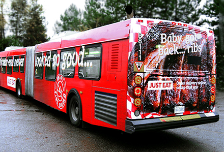 Just Eat WiFi Enhanced Bus Wrap Lamar Advertising British Columbia
