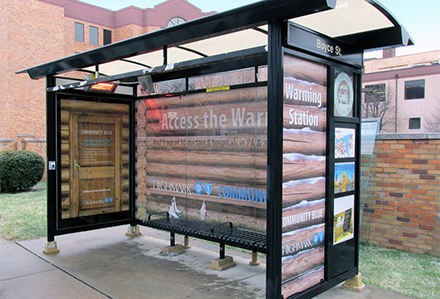 Pittsburgh Bus Shelter