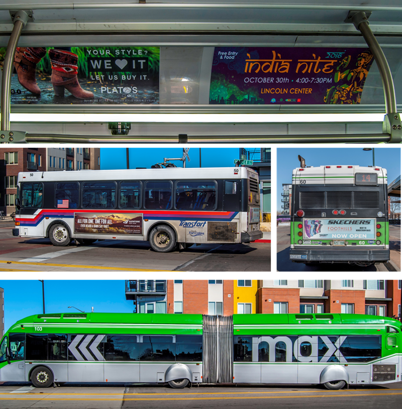 Lamar transit ads running on Transfort Bus inventory in Fort Collins, CO