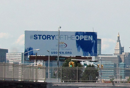 U.S. Open Billboard Lamar Advertising NYC #storyoftheopen