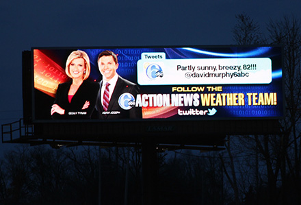 Digital Billboard Action News Weather Live Tweets
