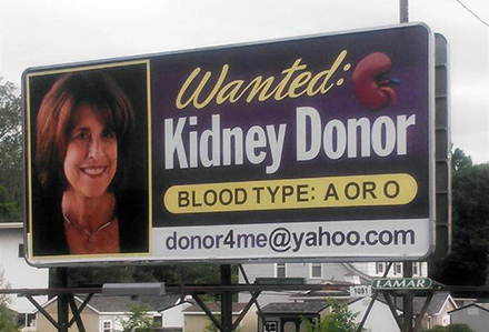Kidney Donor Billboard Lamar Advertising Albany, NY