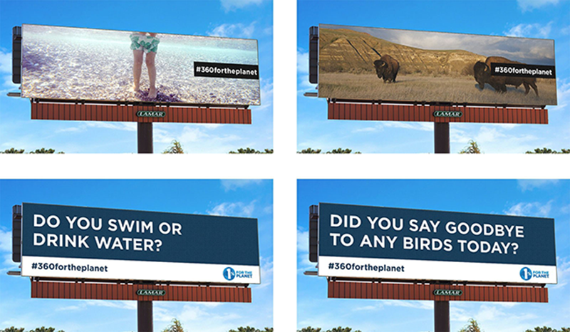 Lamar Advertising Digital Billboard 1% for the Planet Earth Week PSA #360ForThePlanet
