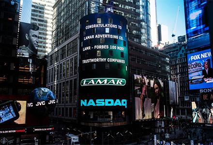 Lamar Advertising Forbes Most Trustworthy Companies List Times Square Billboard