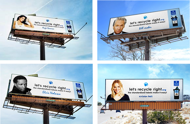 Recycle Across America PSA Digital Billboards Lamar Advertising Company