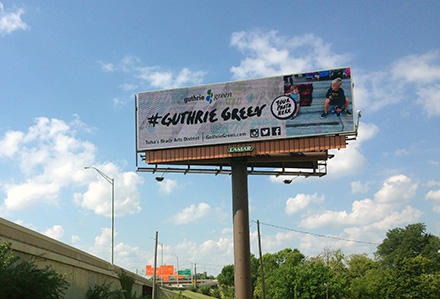 Guthrie Green Interactive Digital Billboard Lamar Advertising Tulsa, OK