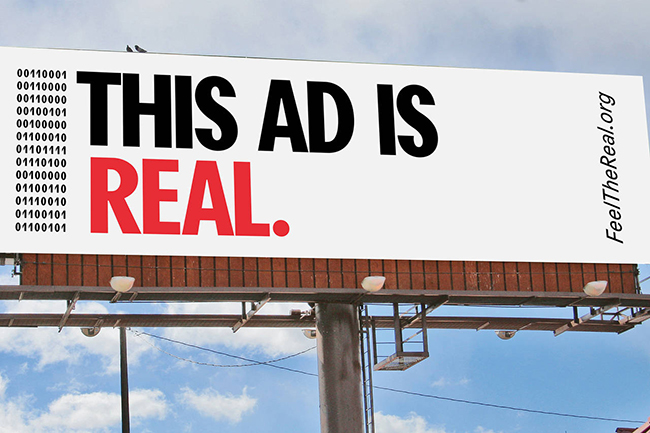 Feel The Real OOH Industry Campaign