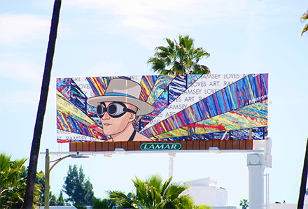 Lamar Advertising RAREFORM Tyler Ramsey Art Lives Billboard Campaign Los Angeles