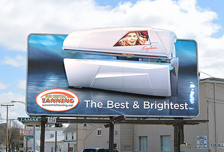 Sun Central Tanning 3D Billboard Lamar Advertising Lima, OH