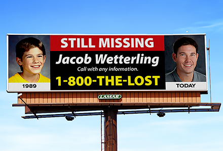 Lamar Advertising Donates Billboards for NCMEC Campaign to Find Jacob Wetterling